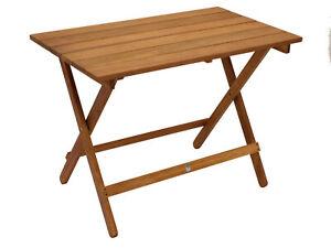 Gartentisch Klapptisch Beistelltisch Campingtisch Holztisch DANA 90x52cm, Holz
