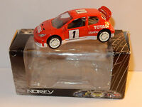 NOREV 3 INCHES 1/54 PEUGEOT 206 WRC N°1 CLARION TOTAL RALLYE 300 CV 220 KM/H BOX