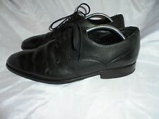MARKS & SPENCERS COLLEZIONE MEN BLACK LEATHER LACE UP SHOE SIZE UK 8 EU 42 VGC