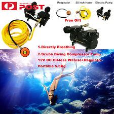 Scuba Diving Air Compressor Pump 12V Oil-less W/Hose+Regulator Portable 5.5Kg