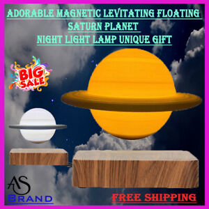 Adorable Magnetic Levitating Floating Saturn Planet Night Light Lamp Unique Gift