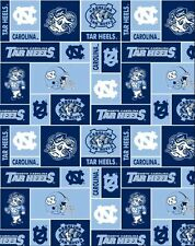 College University of North Carolina Tar Heels Fleece Fabric Print - snc012s