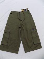 New Vtg Dr Doc Martens Shorts Cargo Pockets Olive Drawstring Junior 1 28X16