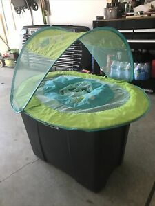 SwimWays Baby Spring Float w/ Canopy - Green / Blue Swimming Pool Floaty