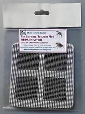 LARGE FLY SCREEN / MOSQUITO NET Repair Patches 2pk - 100mm x 100mm - Aus Seller