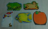 Write Ons Notepads Frank Scaffer Snowman Duck Frog Pumpkin Fish Carson Dellosa