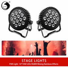 2PCS 140W U`King RGBW 14 LED Par Stage Lights Remote Control DMX DJ Disco Party