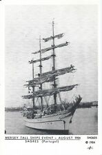 Postcard - Mersey Tall Ships Event August 1984 Sagres Portugal
