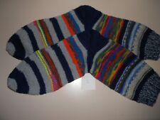 Handgestrickte Socken, Damen, Gr. 40, aus Resten,75 % Schurwolle, 25 % Polyamid