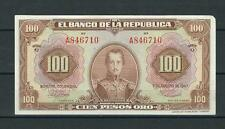 COLOMBIA BANKNOTES $100 1947 6 DIGITS