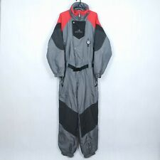 HOLIDAY Vtg Mens Grey Festival Snowsuit Ski Suit One Piece Snowboarding SIZE L
