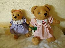 "2 vintage  MACGREGOR JOINTED TEDDY Bears STUFFED ANIMALS~10"" / 16""~ Free Ship~"