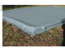 Bodenplane Grau 250 x 400 cm Wasser Schutz Ränder, aufblasbar, PVC, Vorzeltplane