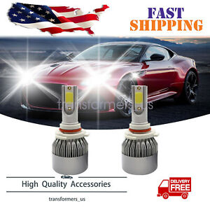 9005 HB3 LED Headlight Bulbs Kit Bright High/Low Beam 6000K White 72W 18000LM