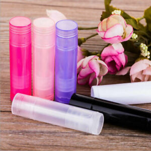 5ml Plastic Empty Lipstick Lip Balm Container Bottle Tube 5g 6 Colors