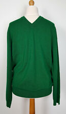 BNWT Paul Smith 100% Cashmere Gents Bottle Green V Neck Pullover (XXL) RRP £315