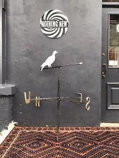 More details for large blacksmith made 1930's weather vane wood pigeon/dove antique vtg