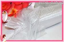 WHITE 30cm x 92m Organza Roll Shimmering Sheer Wedding Fabric Drape Bow Tulle