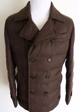 $4435 BRUNELLO CUCINELLI Brown Goose Down Padded Jacket Coat Size Large - XL