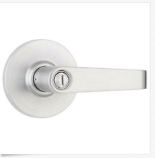 Commercial 2-3/4 in. Satin Chrome Heavy Duty Privacy Bed/Bath Door Lever