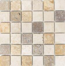 Mosaik Travertin Mix Tumbled Fliesenspiegel Küche Wand Art: 43-46685 | 10 Matten