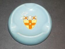 CARLTON WARE BLUE ASHTRAY WITH HERALDIC COAT OF ARMS COLE & SOON MANCHESTER