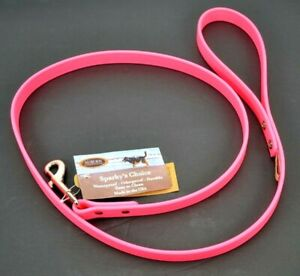 """NEW Sparky's Choice Dog Lead Leash Hot Pink Size 3/4"""" X 48"""" 4 Feet Made in USA"""