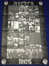 H vintage 1994 Glenn Danzig(Misfits) 4P ALBUM/LP INSERT POSTER UNUSED 23x34.5in