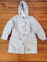 Womens London Fog Khak (ease) Hooded Rain Coat Parka Jacket SP Small Petite