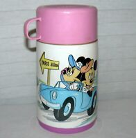 Aladdin Thermos Le Cafe Minnie Mickey Paris Light Pink Lid