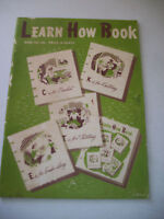 Vintage Learn How Book 1941 Magazine Crafts Crochet Knitting Embroidery Tatting