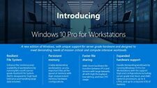 Microsoft Windows 10 Pro 64-bit for Workstations - License - 1 (hzv00054)