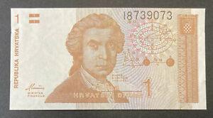 Billet Croatie République croate 1 dinar 1991 neuf