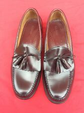 Men's LL Bean Maroon Tassels Leather Slip-On Dress Loafers Size 13 D