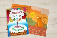 Personalised 1st Birthday Children's Counting Book Softback Educational sg1