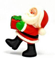 Rare 1980 Santa Claus Carrying Package Merry Miniature Ornament Scarce & Cute
