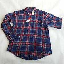 Izod Men's Regular Fit Plaid Flannel Easy Care Button Down Shirt Size M