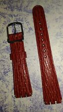 BRACELET  DE MONTRE watch band cuir  Vachette pour Swatch   ROUGE  20mm  /GY24