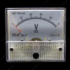 DC 50V Analog Voltmeter Panel Pointer Volt Voltage Meter Gauge 85C1 0-50V DC