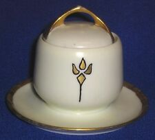 Rosenthal Hand-painted China Sugar Bowl with Lid and Liner - SHIPPING INCLUDED