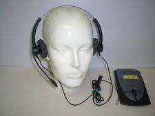 Plantronics SP12 Binaural Noise-Canceling Headset + S12 Amplifier with Batteries