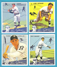 1934 Goudey Reprint Team Sets: Brooklyn Dodgers