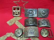 vintage military SOVIET ARMY belt BUCKLE RKKA set 8pcs USSR Soviet Russian
