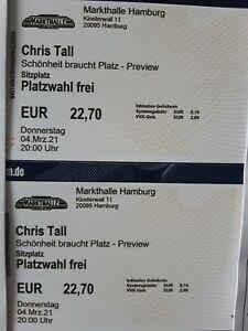 2 Tickets CHRIS TALL Hamburg 04.03.21 Markthalle Ausverkauft Comedy Preview
