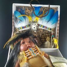KINNEX Native American Indian Baby Doll Vinyl Limited With Accessories and Box