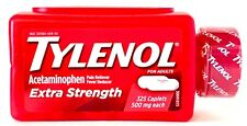TYLENOL EXTRA STRENGTH 325 CAPLETS 500 mg ACETAMINOPHEN PAIN RELIEVER EXP 12/21+