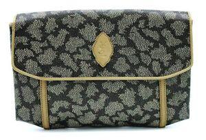【Rank B】 Authentic Yves Saint Laurent YSL Clutch Hand Bag Second PVC Leather