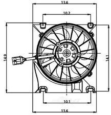 Engine Cooling Fan Assembly fits 2000-2003 Saturn L200,LW200 LW300 L100  GLOBAL
