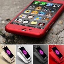 Full Cover iPhone 10 X 8 7 6 Plus 5 360° Schutz Hülle Bumper Case mit Panzerglas