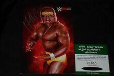 HULK HOGAN SIGNED AUTOGRAPHED SMALL WWE 2K15 PHOTO SGC CERTIFIED